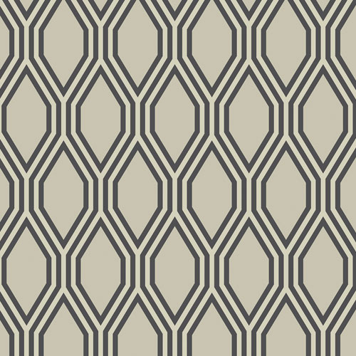 2782-24500 Brewster Wallcovering A Street Prints Habitat Honeycomb Geometric Wallpaper Beige