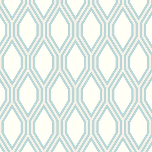 2872-24505 Brewster Wallcovering A Street Prints Habitat Honeycomb Geometric Wallpaper Light Blue