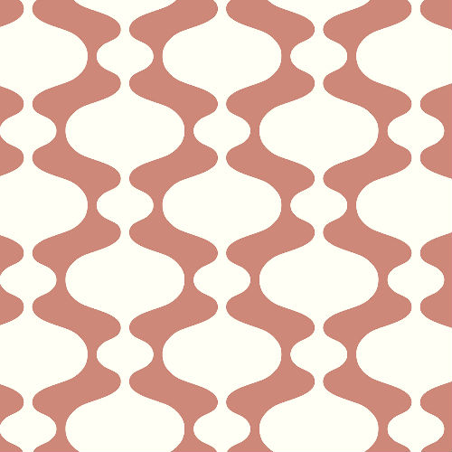 2782-24542 Brewster Wallcovering A Street Prints Habitat Emilio Retro Wallpaper Coral
