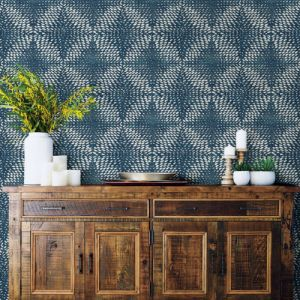 2793-24727 Brewster Wallcovering A Street Prints Celadon Ethos Abstract Wallpaper Room Setting