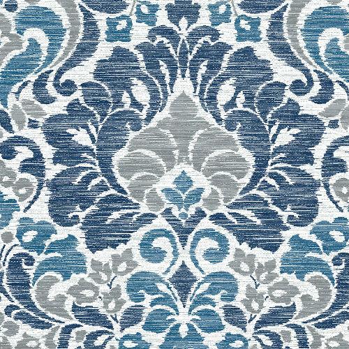 2793-24731 Brewster Wallcovering A Street Prints Celadon Garden of Eden Damask Wallpaper Blue