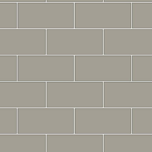 2767-23753 Brewster Wallcovering Techniques and Finishes 3 Galley Subway Tile Wallpaper Dark Grey