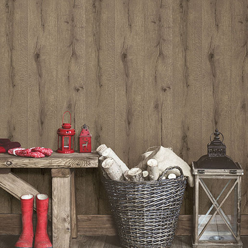 2774-514421 Brewster Wallcovering Advantage Stones and Woods Appalachian Wooden Planks Wallpaper Room Setting
