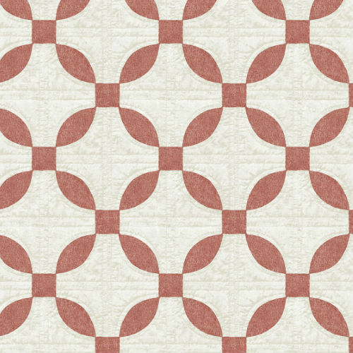 3115-12474 Brewster Wallcovering Chesapeake Farmhouse Justice Quilt Wallpaper Red