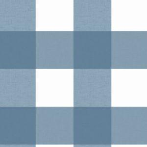 3115-12533 Brewster Wallcovering Chesapeake Farmhouse Selah Gingham Wallpaper Blue