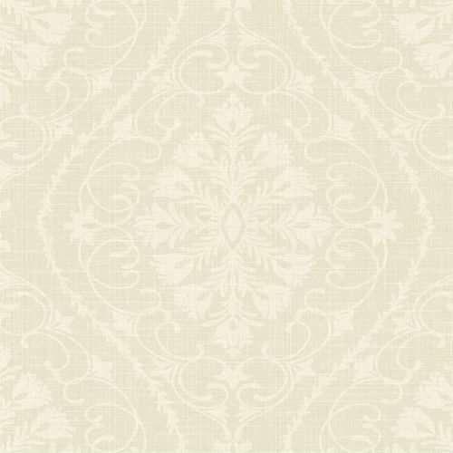 1620900 Seabrook Wallcovering Etten Gallerie Bruxelles Ogee Damask Wallpaper Beige