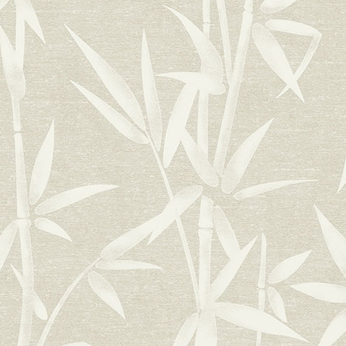 2766-003535 Brewster Wallcovering Kitchen and Bath Essentials Catasetum Bamboo Wallpaper Champagne
