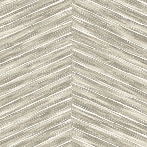 2766-23775 Brewster Wallcovering Kitchen and Bath Essentials Aldie Chevron Weave Wallpaper Beige