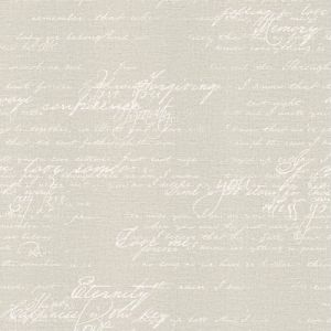2773-449556 Brewster Wallcovering Advantage Neutral Black White Novel Script Wallpaper Light Grey