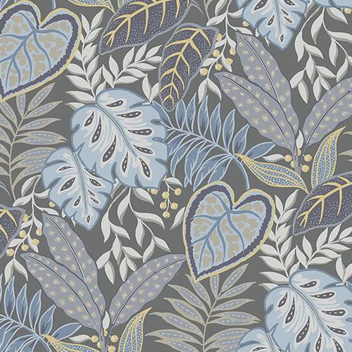 2785-87422 Brewster Wallcovering A Street Prints Sarah Richardson Signature Jasmine Botanical Wallpaper Denim