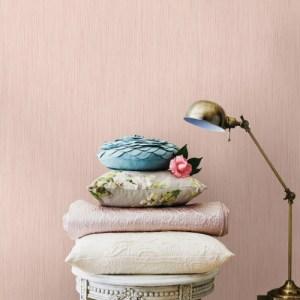 2799-13486-60 Brewster Wallcovering Advantage Texture Basics Ellington Horizontal Stripe Texture Wallpaper Pink Room Setting
