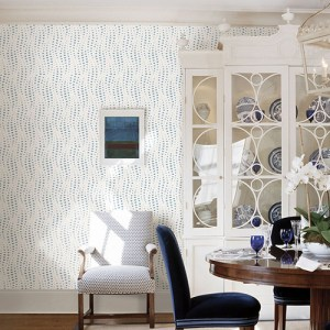 2785-24843 Brewster Wallcovering A Street Prints Sarah Richardson Signature Wavelength Wallpaper Room Setting