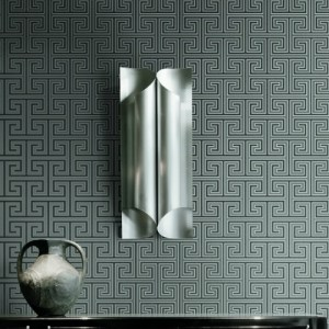 GC31800 Seabrook Wallcovering Colilns and Company Monaco 2 Geometric Maze Wallpaper Room Setting
