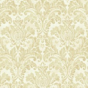GC32705 Seabrook Wallcovering Collins and Company Monaco 2 Acanthus Damask Wallpaper Gold