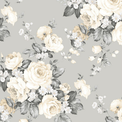 MH36505 Norwall Patton Wallcovering Manor House Vintage Bloom Wallpaper
