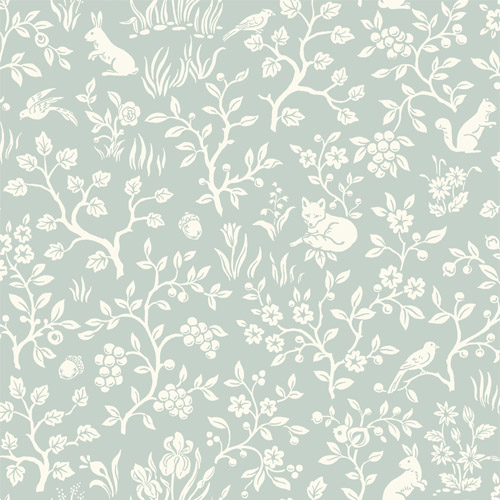 MK1111 York Wallcoverings Joanna Gaines Magnolia Home 3 Artful Prints and Patterns Fox and Hare Wallpaper Sage