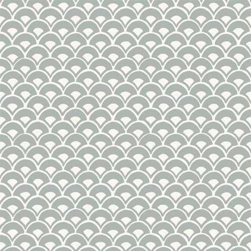 MK1151 York Wallcoverings Joanna Gaines Magnolia Home 3 Artful Prints and Patterns Stacked Scallops Wallpaper Sage