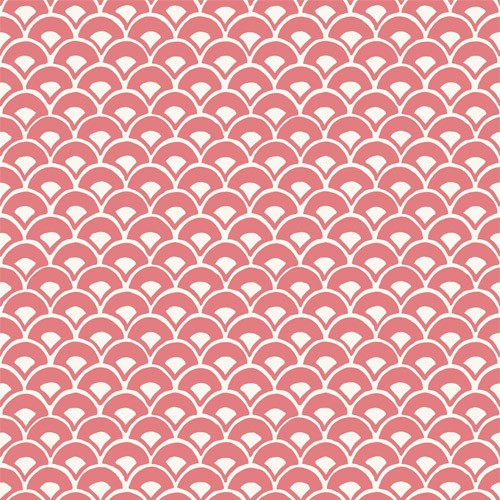 MK1155 York Wallcoverings Joanna Gaines Magnolia Home 3 Artful Prints and Patterns Stacked Scallops Wallpaper Coral