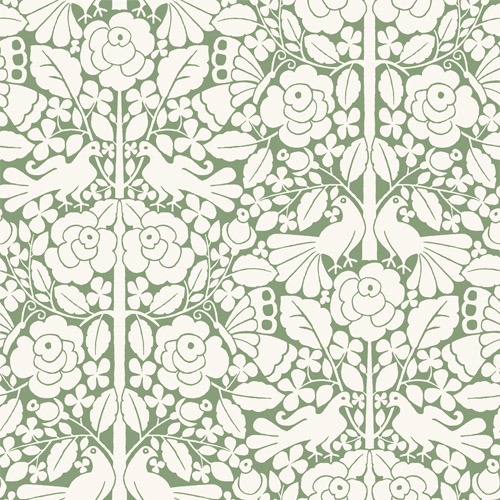 MK1164 York Wallcoverings Joanna Gaines Magnolia Home 3 Artful Prints and Patterns Fairy Tales Wallpaper Green