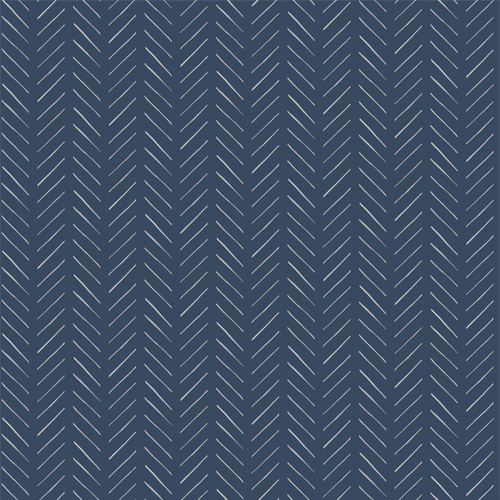 MK1173 York Wallcoverings Joanna Gaines Magnolia Home 3 Artful Prints and Patterns Pick-Up Sticks Wallpaper Navy