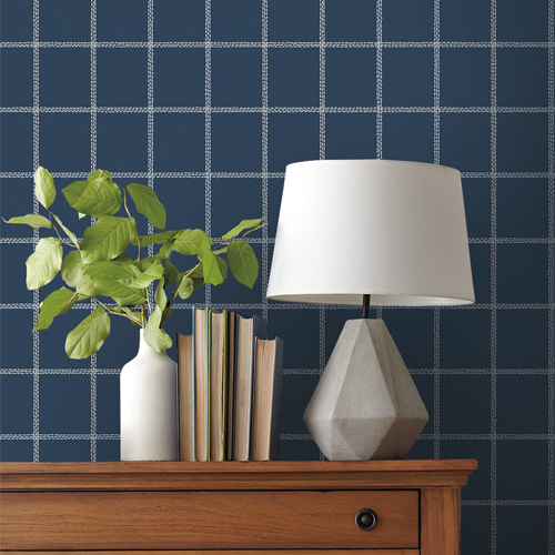 MK1176 York Wallcoverings Joanna Gaines Magnolia Home 3 Artful Prints and Patterns Sunday Best Wallpaper Room Setting