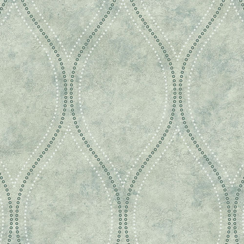 2765-BW40204 Brewster Wallcovering Kenneth James Geo Tex Eira Marble Ogee Wallpaper Seafoam
