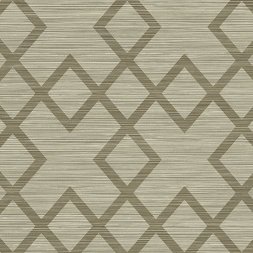 2765-BW4046 Brewster Wallcovering Kenneth James Geo Tex Vana Woven Diamond Wallpaper Brown