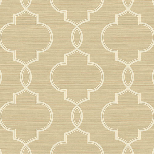 2765-BW40507 Brewster Wallcovering Kenneth James Geo Tex Malo Sisal Ogee Wallpaper Wheat