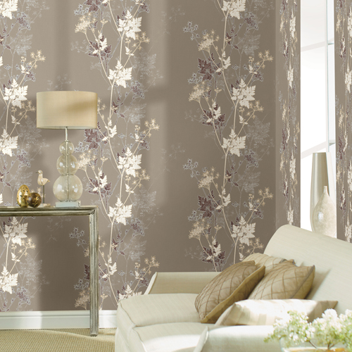 2811-JY11305 Brewster Wallcovering Advantage Nature Tara Sprig Wallpaper Room Setting