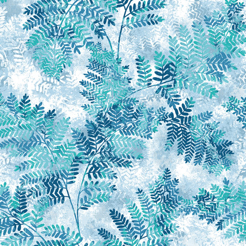 2811-LV04350 Brewster Wallcovering Advantage Nature Cyathea Fern Wallpaper Blue