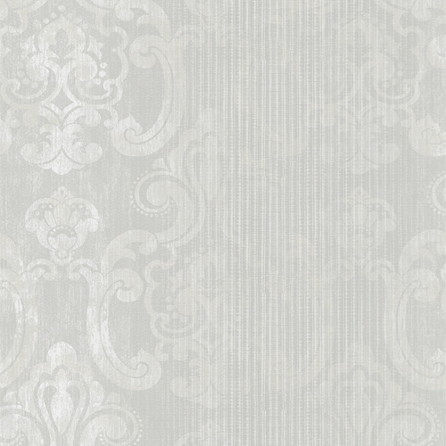 2810-SH01042 Brewster Wallcovering Advantage Tradition Ariana Striped Damask Wallpaper Pearl