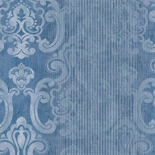 2810-SH01044 Brewster Wallcovering Advantage Tradition Ariana Striped Damask Wallpaper Dark Blue