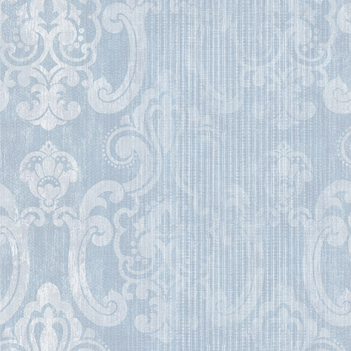 2810-SH01045 Brewster Wallcovering Advantage Tradition Ariana Striped Damask Wallpaper Seafoam