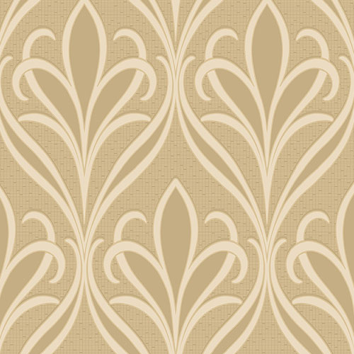 2810-XSS0505 Brewster Wallcovering Advantage Tradition Vivian Nouveau Damask Wallpaper Khaki