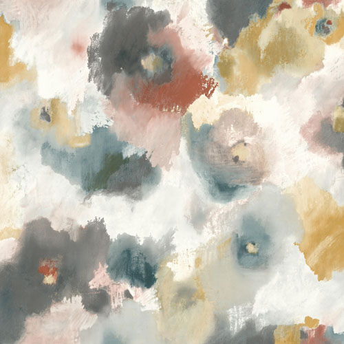 UC3822 York Wallcovering Modern Art Impressionist Floral Wallpaper Copper