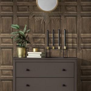 DI4747 York Wallcovering Dimensional Artisty Front Door Wallpaper Brown Room Setting