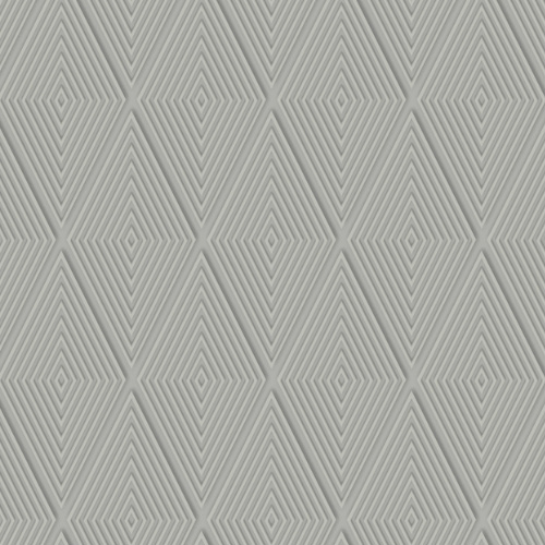 DI4763 York Wallcovering Dimensional Artistry Conduit Diamond Wallpaper Grey