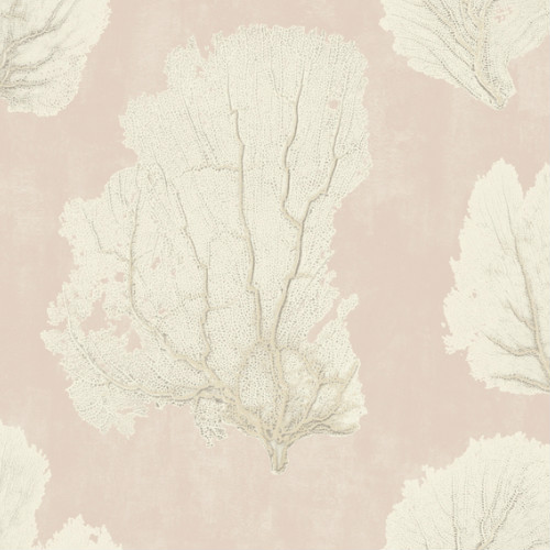 VA1210 York Wallcovering Aviva Stanoff Signature Collection Coral Couture Wallpaper Pink