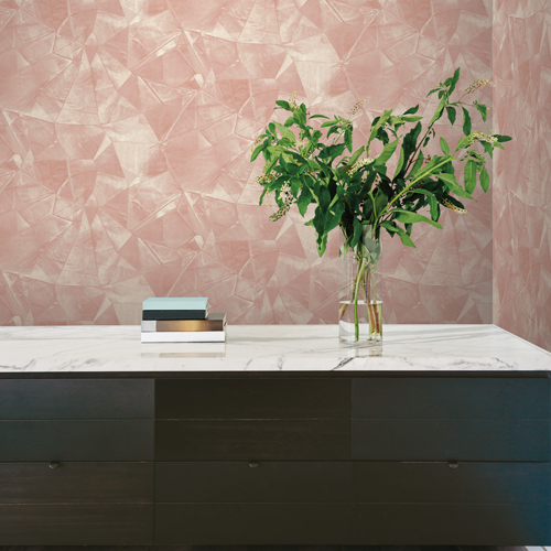 VA1243 York Wallcovering Aviva Stanoff Signature Velvet Crush Wallpaper Pink Room Setting