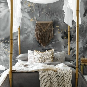 VA1280M York Wallcovering Aviva Stanoff Signature Collection Dreamchaser Wall Mural Grey Room Setting