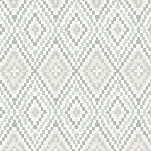 3118-12712 Brewster Wallcovering Chesapeake Birch and Sparrow Ganado Geometric Ikat Wallpaper Grey