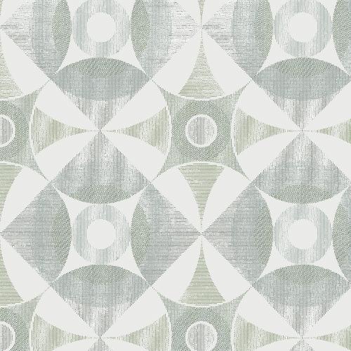 2821-25135 Brewster Wallcovering A Street Prints Folklore Ellis Geometric Wallpaper Sage