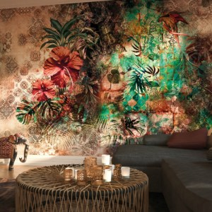 8-210 Brewster Wallcovering Komar Sherazade Wall Mural Room Setting