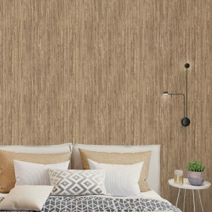 G67965 Norwall Patton Wallcovering Organic Texture Rough Grass Wallpaper Wheat Room Setting