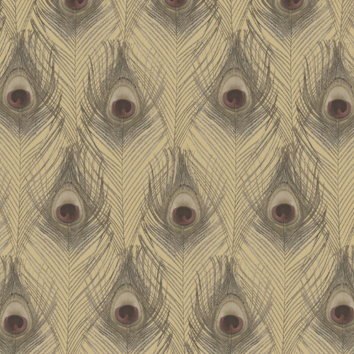 G67980 Norwall Patton Wallcovering Organic Textures Peacock Wallpaper Gold