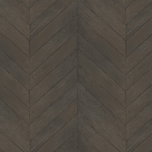 G67997 Norwall Patton Wallcovering Organic Texture Chevron Wood Wallpaper Chocolate