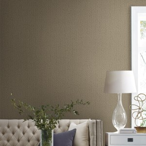 Y6231105 York Wallcovering Antonina Vella Natural Opalescence Stretched Hexagons Wallpaper Burnished Copper Room Setting