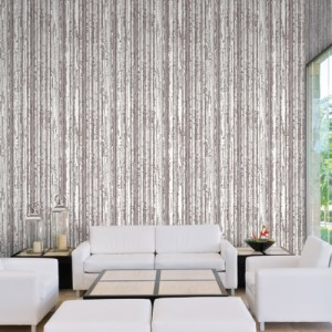 COD0564 York Wallcovering Candice Olson Terrain High Performance Briarwood Wallpaper Grey Room Setting