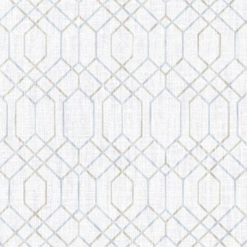 2838-AW87732 Brewster Wallcovering Decorline Vista Lyla Trellis Wallpaper Grey