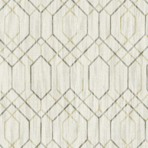 2838-AW87734 Brewster Wallcovering Decorline Vista Lyla Trellis Wallpaper Beige